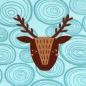 Preview: 0,25m Biojersey Woody Deer